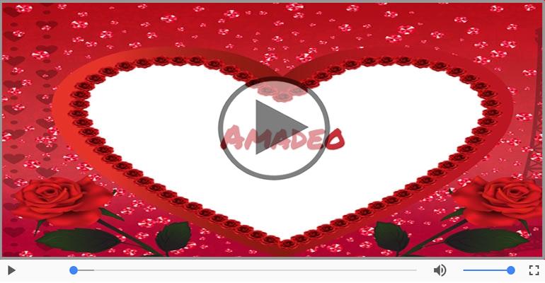 Cartoline musicali d'amore - Ti amo Amadeo!