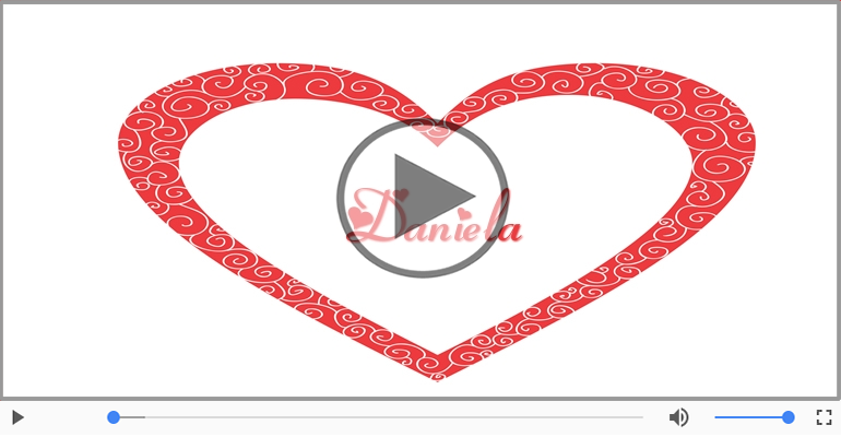 Cartoline musicali d'amore - Daniela, Ti amo tanto!