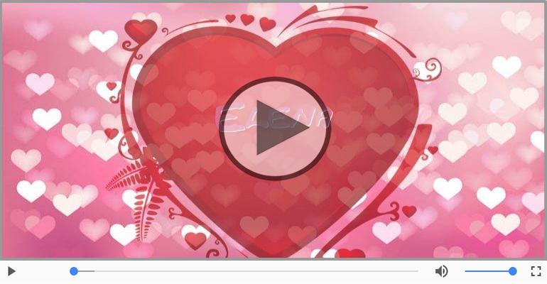 Cartoline musicali d'amore - Elena, Sei il grande amore della mia vita!