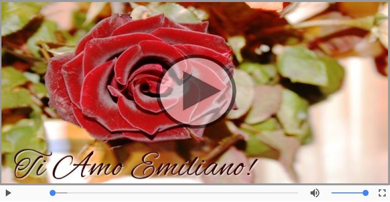Cartoline musicali d'amore - Ti amo Emiliano!