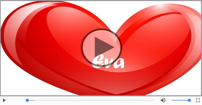 Cartoline musicali d'amore - Ti amo Eva!
