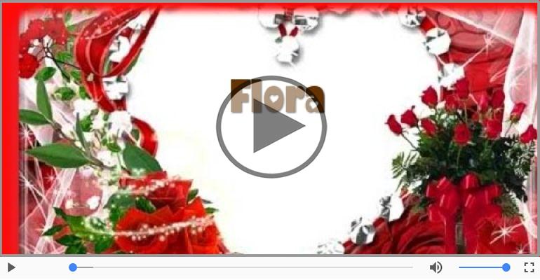 Cartoline musicali d'amore - Ti amo Flora!
