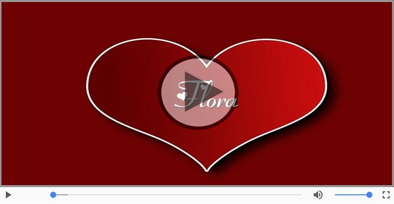 Cartoline musicali d'amore - Flora, Sei il grande amore della mia vita!