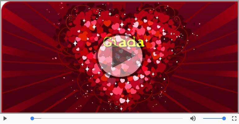 Cartoline musicali d'amore - Ti amo Giada!