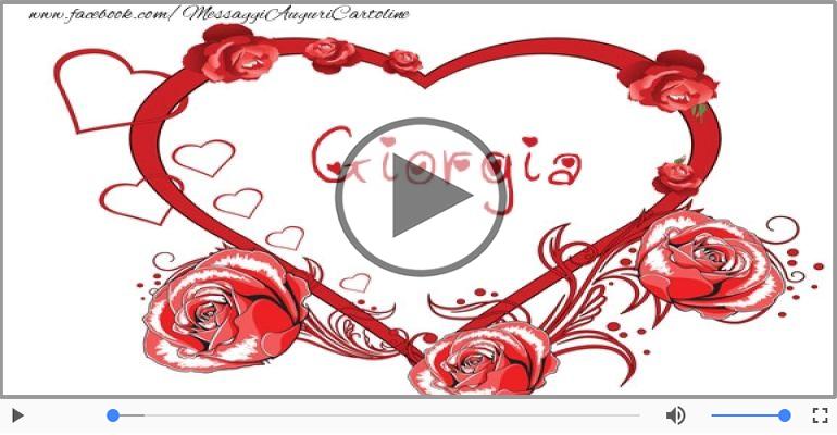 Cartoline musicali d'amore - Ti amo Giorgia!