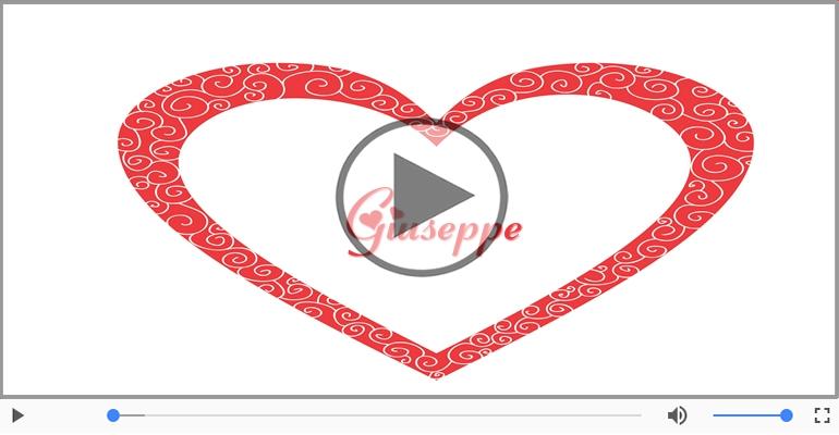 Cartoline musicali d'amore - Ti amo Giuseppe!
