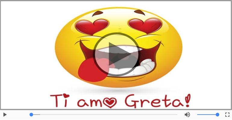 Cartoline musicali d'amore - Greta, Ti amo tanto!