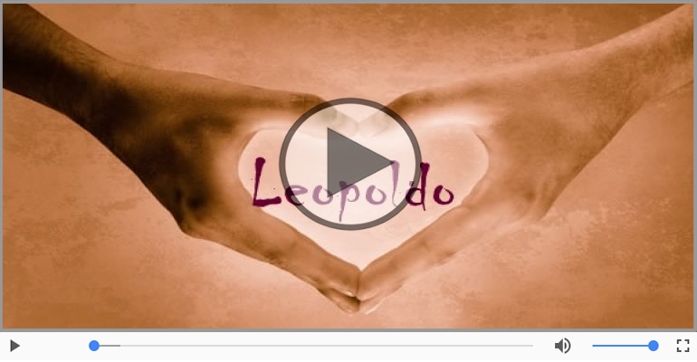 Cartoline musicali d'amore - Ti amo Leopoldo!