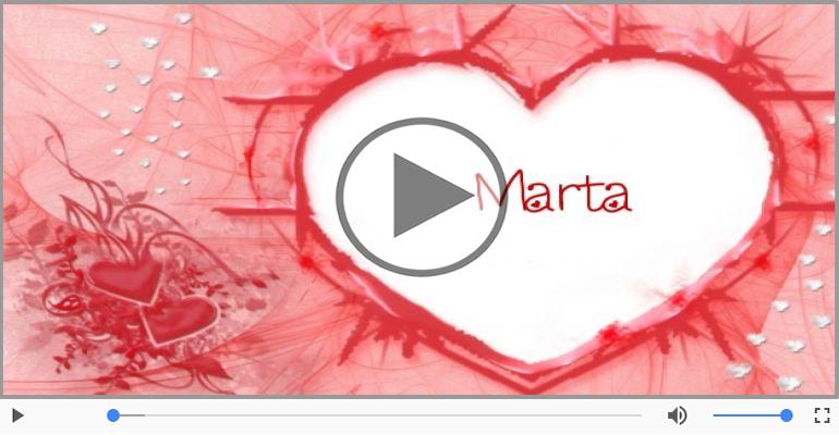 Cartoline musicali d'amore - Ti amo Marta!