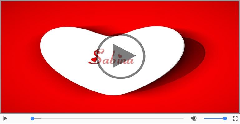 Cartoline musicali d'amore - Ti amo Sabina!