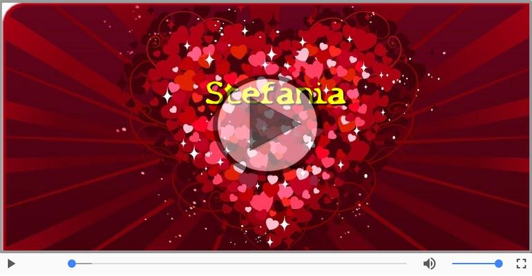 Cartoline musicali d'amore - Ti amo Stefania!