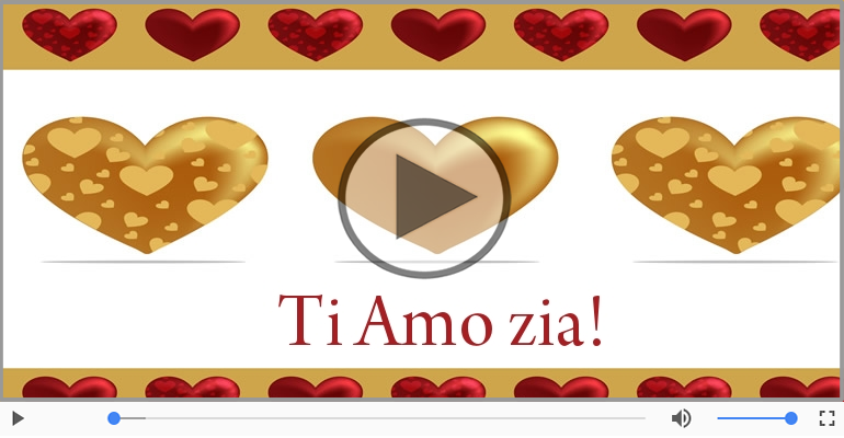 Cartoline musicali d'amore - Zia, Ti amo!