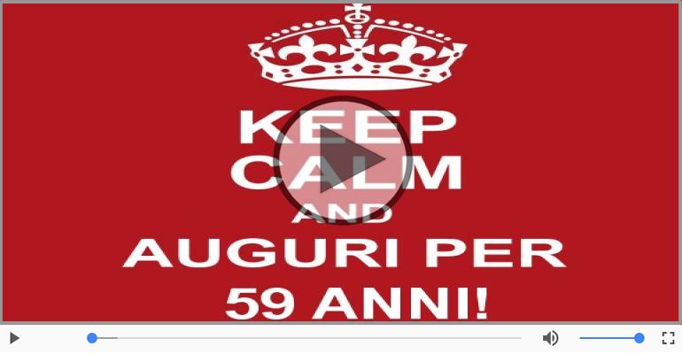 Cartoline musicali Per 59 anni - Tanti Auguri 59 anni!