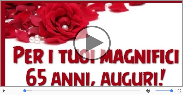 Cartoline musicali Per 65 anni - Tanti Auguri 65 anni!