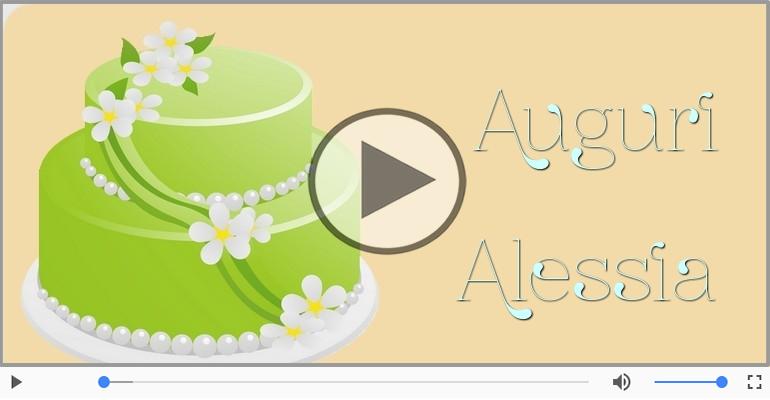 Cartoline musicali di auguri - Tanti auguri Alessia!