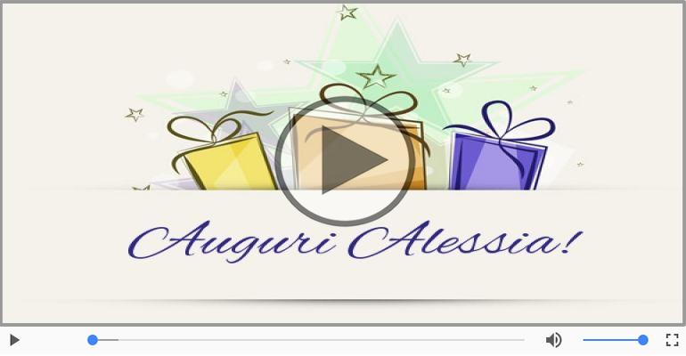 Cartoline musicali di auguri - Tanti auguri a te Alessia!
