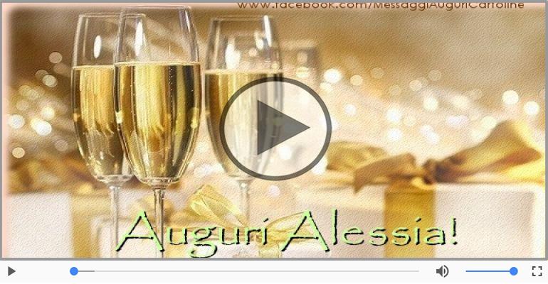 Cartoline musicali di auguri - Tanti Auguri di Buon Compleanno Alessia!