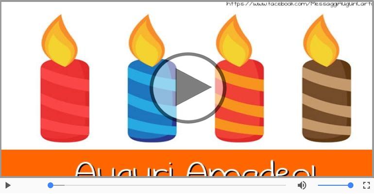 Cartoline musicali di auguri - Tanti auguri, Amadeo!