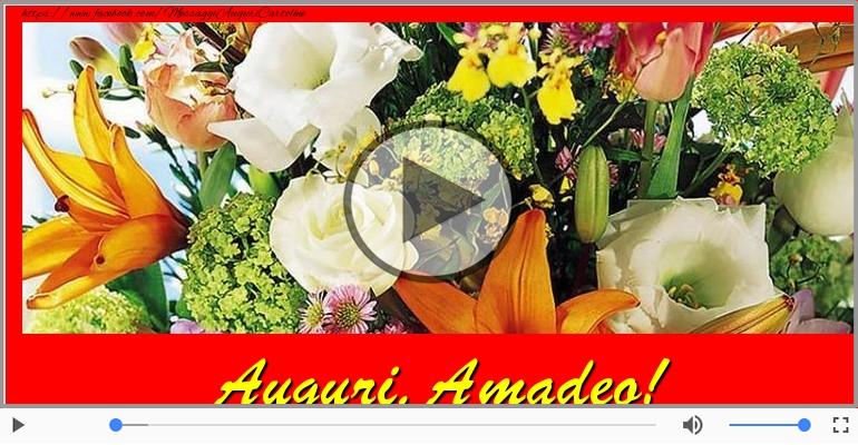 Cartoline musicali di auguri - Tanti auguri a te Amadeo!