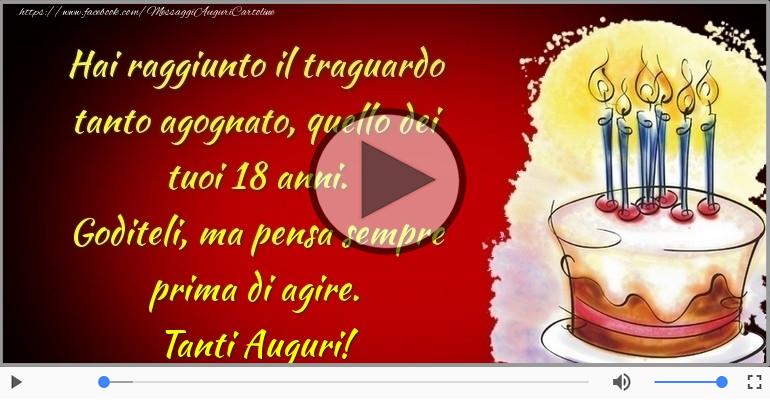 Cartoline musicali di auguri - Tanti Auguri 18 anni!