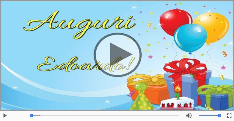 Cartoline musicali di auguri - Tanti auguri Edoardo!