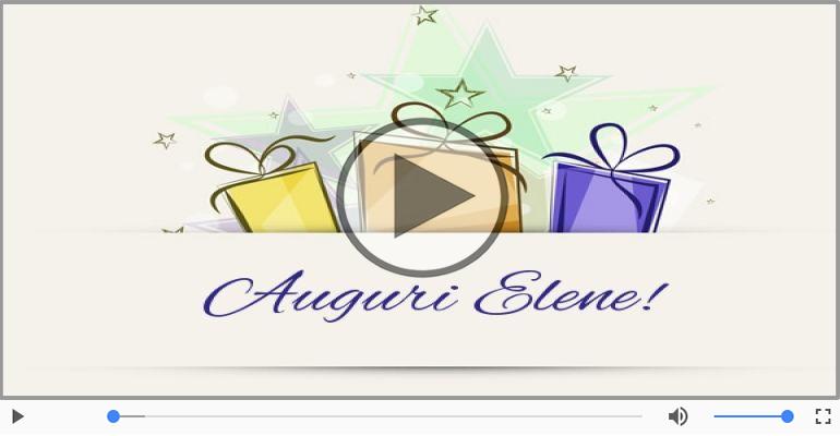 Cartoline musicali di auguri - Tanti auguri, Elene!