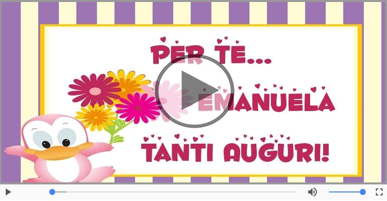Cartoline musicali di auguri - Tanti Auguri di Buon Compleanno Emanuela!