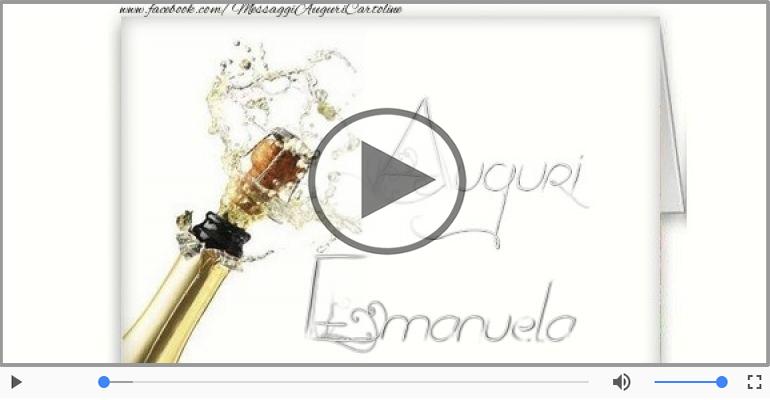Cartoline musicali di auguri - Tanti auguri a te Emanuela!