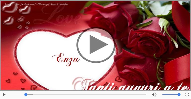 Cartoline musicali di auguri - Tanti auguri, Enza!