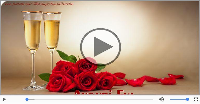 Cartoline musicali di auguri - Tanti auguri a te Eva!