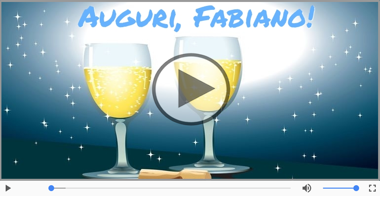 Cartoline musicali di auguri - Tanti Auguri di Buon Compleanno Fabiano!