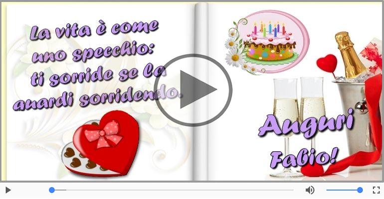Cartoline musicali di auguri - Tanti Auguri di Buon Compleanno Fabio!