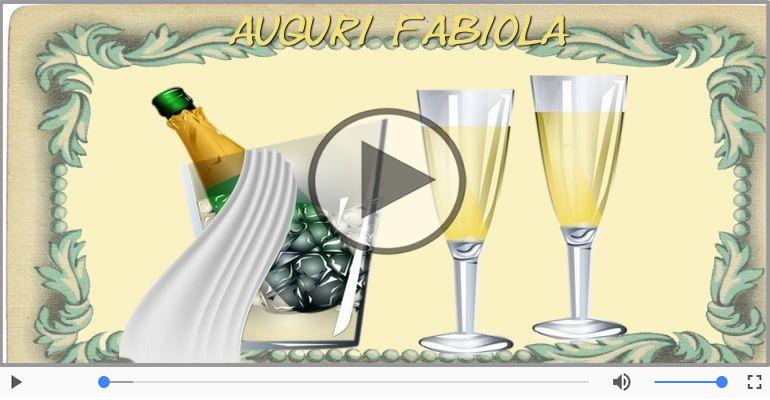Cartoline musicali di auguri - Tanti auguri Fabiola!