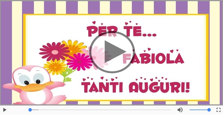 Cartoline musicali di auguri - Tanti auguri, Fabiola!