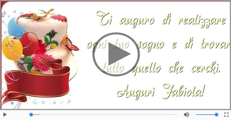 Cartoline musicali di auguri - Tanti Auguri di Buon Compleanno Fabiola!