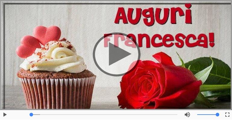 Souvent Cartoline musicali con il nome Francesca | Auguri  JC73