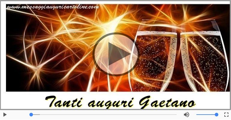 Cartoline musicali di auguri - Tanti auguri, Gaetano!