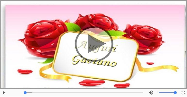 Cartoline musicali di auguri - Tanti Auguri di Buon Compleanno Gaetano!