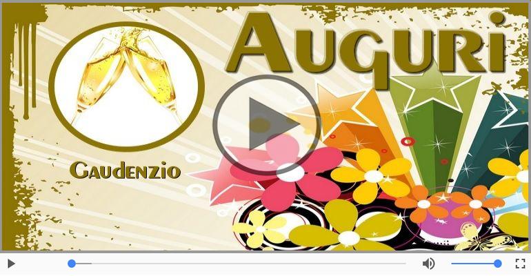 Cartoline musicali di auguri - Tanti auguri Gaudenzio!