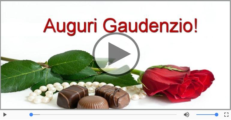 Cartoline musicali di auguri - Tanti auguri a te Gaudenzio!