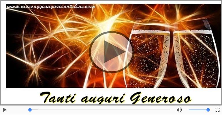 Cartoline musicali di auguri - Tanti auguri, Generoso!