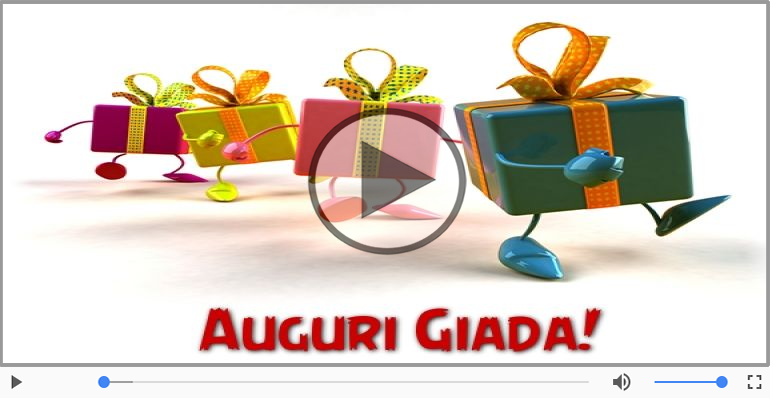 Cartoline musicali di auguri - Tanti Auguri di Buon Compleanno Giada!