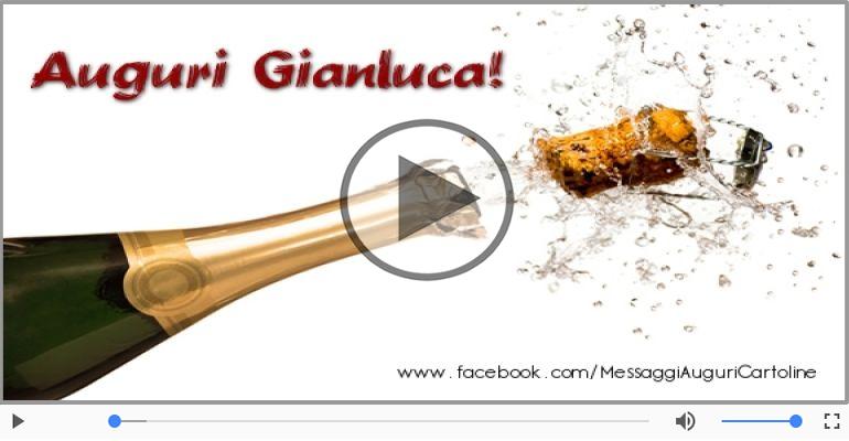 Cartoline musicali di auguri - Tanti Auguri di Buon Compleanno Gianluca!