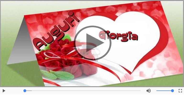 Cartoline musicali di auguri - Tanti auguri, Giorgia!