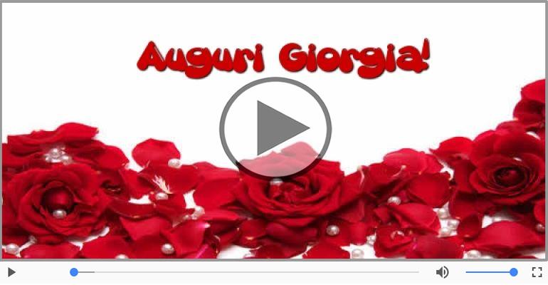 Cartoline musicali di auguri - Tanti auguri a te Giorgia!