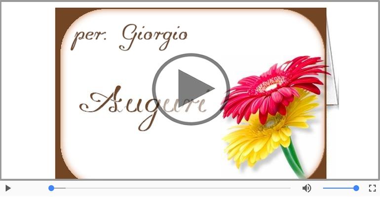 Cartoline musicali di auguri - Tanti Auguri di Buon Compleanno Giorgio!