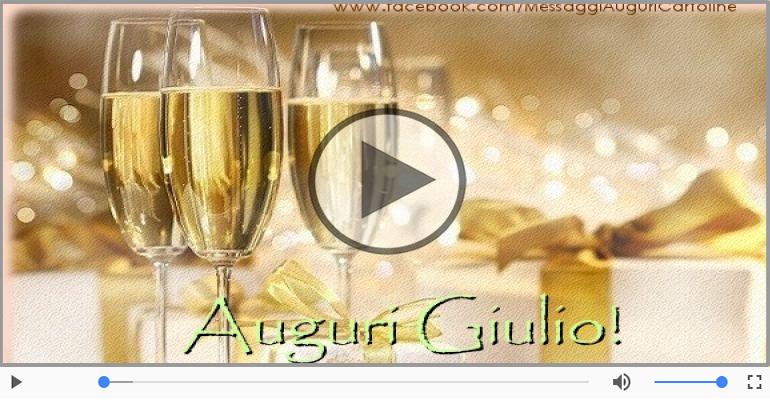 Cartoline musicali di auguri - Tanti auguri Giulio!