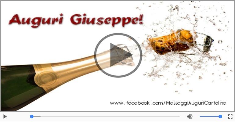 Cartoline musicali di auguri - Tanti auguri Giuseppe!