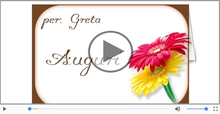 Cartoline musicali di auguri - Tanti auguri, Greta!