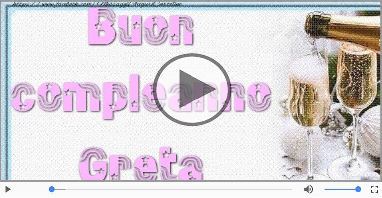 Cartoline musicali di auguri - Tanti auguri Greta!